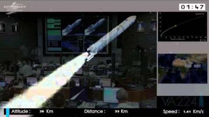 Ariane 5 liftoff (16/07/15)